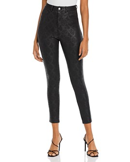 GUESS - Poison Python-Print Coated Skinny Pants