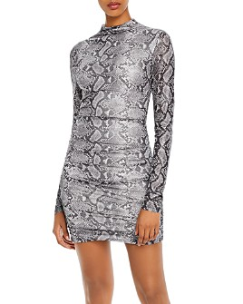Tiger Mist - Addison Snake Print Mini Dress
