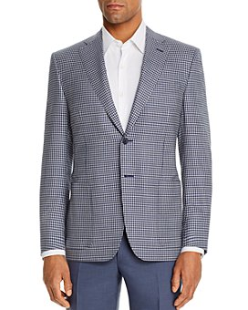 Canali - Siena Gingham Check Classic Fit Sport Coat