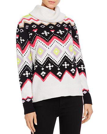 Alice and Olivia - Emett Fair Isle Turtleneck Sweater