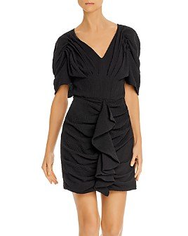 C/MEO Collective - Soaked Puff-Sleeve Mini Dress