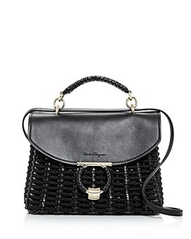 Salvatore Ferragamo - Margot Cord Small Woven Satchel