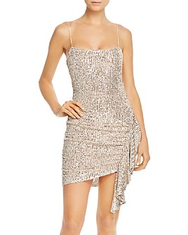 LIKELY - Whitney Sequined & Ruched Mini Dress