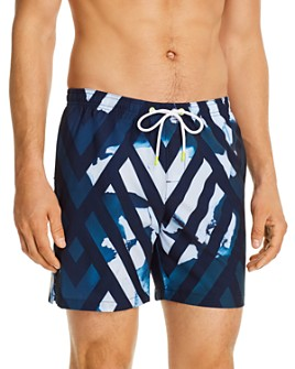 SUNDEK - Abstract-Print Swim Trunks