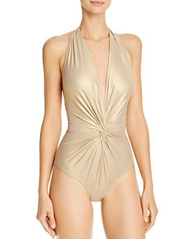 Karla Colletto - Carmelle Twist-Front One Piece Swimsuit