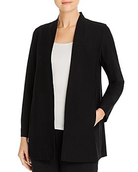 Eileen Fisher Petites - Long Stand-Collar Jacket