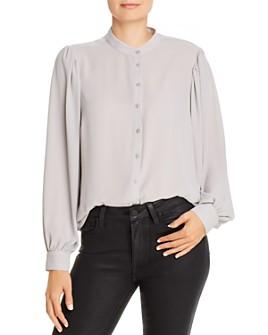 T Tahari - Blouson-Sleeve Button Down Shirt