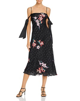 Rebecca Taylor - Floral-Burnout Slip Dress