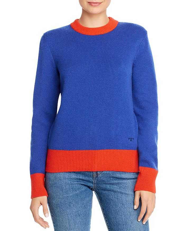 Tory Burch - Color-Blocked Cashmere Sweater