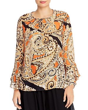 Kobi Halperin Tops KAYLA PAISLEY SILK-BLEND TOP