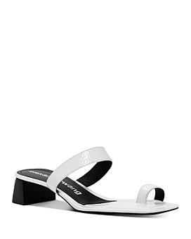 Alexander Wang - Women's Ellis Animal-Embossed Block-Heel Sandals