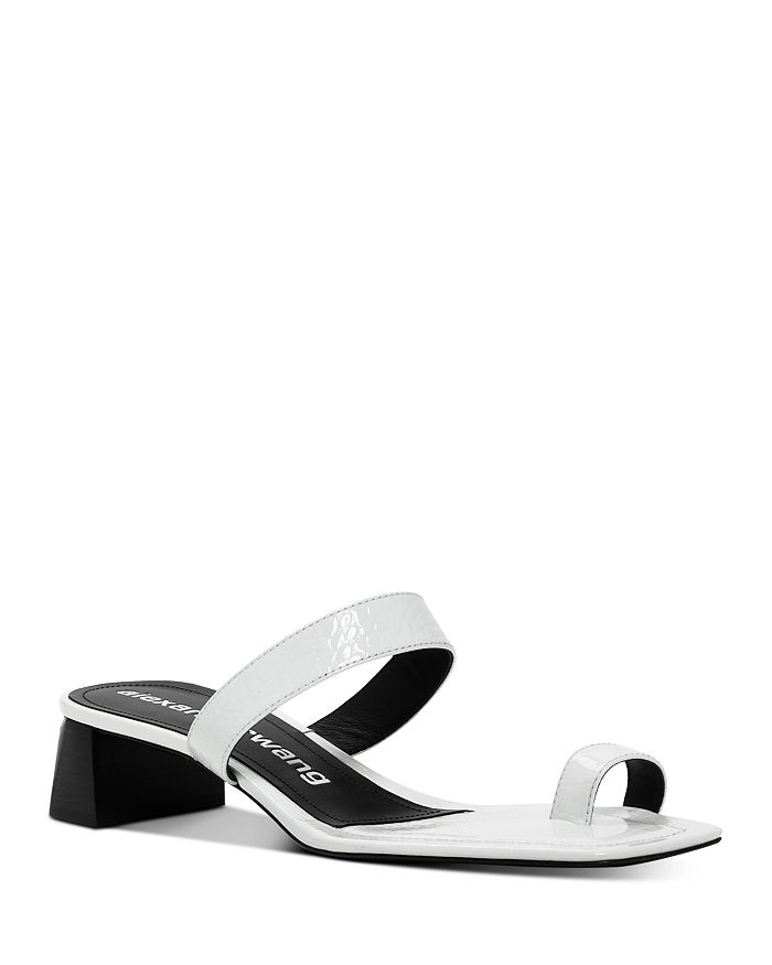 Alexander Wang - Women's Ellis Animal-Embossed Block-Heel Sandals