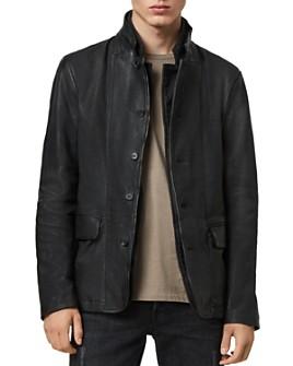 ALLSAINTS - Gaspar Leather Slim Fit Blazer