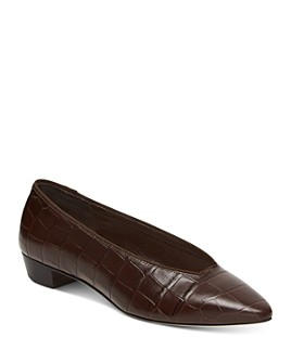 Loeffler Randall - Women's Simone Croc-Embossed Flats