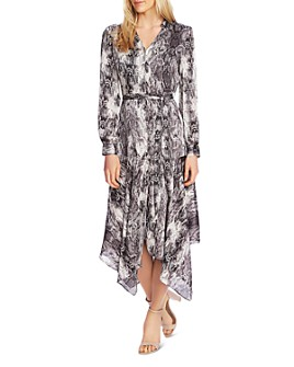 VINCE CAMUTO - Snakeskin Print Midi Dress - 100% Exclusive