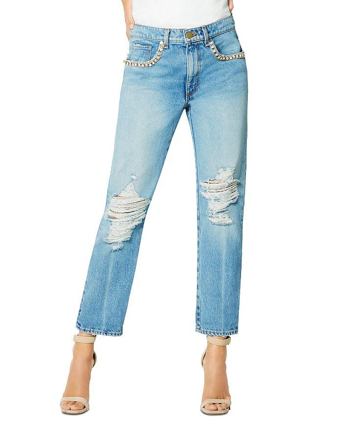 Ramy Brook - Embellished Elle Boyfriend Jeans in Vintage Wash