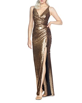 Dress the Population - Jordan Ruched Sequined Gown