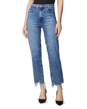 J Brand Jules High-Rise Straight Jeans in Sympathy Destruct-Women