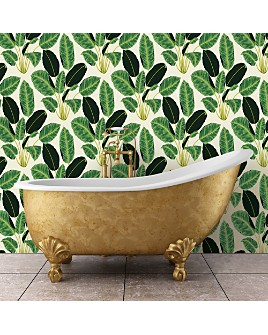 Tempaper - Genevieve Gorder Hojas Cubanas Self-Adhesive, Removable Wallpaper, Double Roll