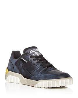 Diesel - Men's S-Rua Distressed Leather Low-Top Sneakers