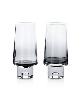 Tom Dixon - Black Tank High Ball Glass, Set of 2