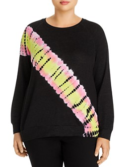 AQUA Curve - Lightweight Tie-Dye Sweatshirt - 100% Exclusive