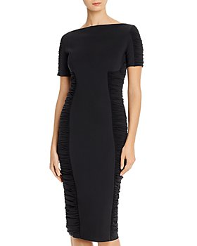 Chiara Boni La Petite Robe - Dary Illusion Ruched-Panel Dress - 100% Exclusive