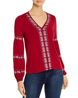 Design History - Embroidered Jersey Knit Top