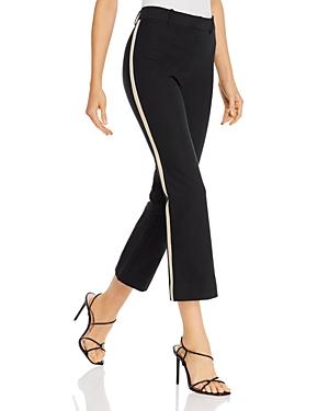 Derek Lam 10 Corinna Tuxedo-Stripe Cropped Pants