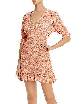 Faithfull the Brand - Margherita Smocked Floral Mini Dress