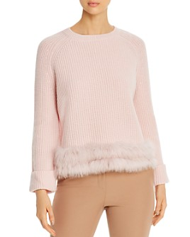 Max & Moi - Fire Fox-Fur-Trimmed Merino-Wool & Cashmere Sweater