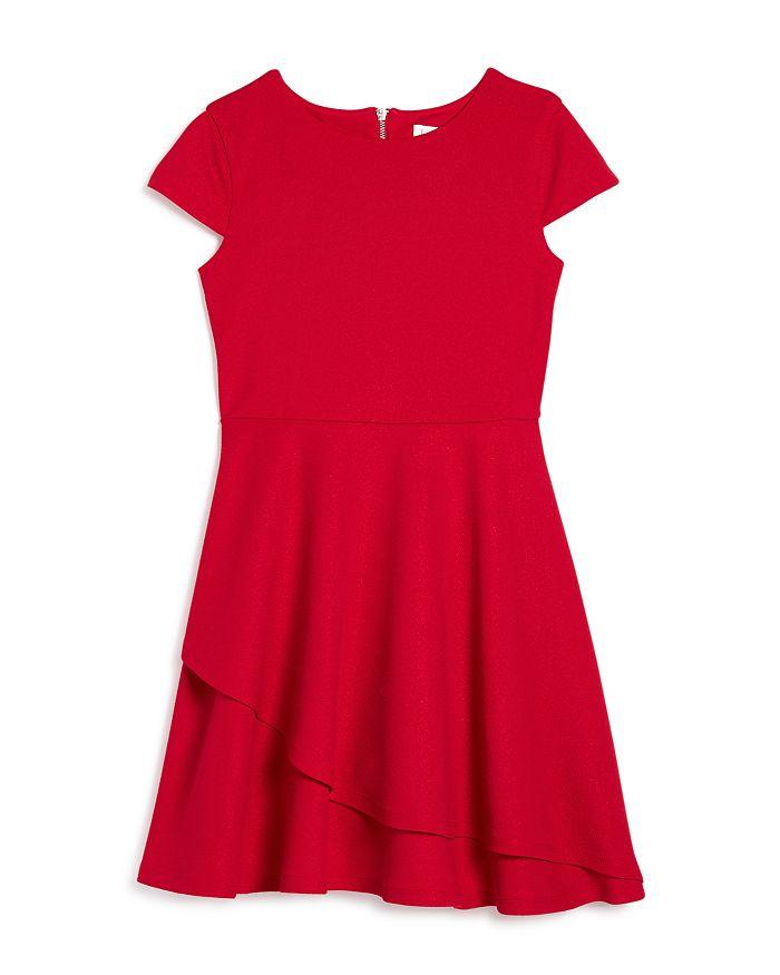 US Angels - Girls' Cap-Sleeve Metallic Dress, Big Kid - 100% Exclusive
