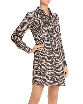 Joie - Talma Zebra Print Shirt Dress