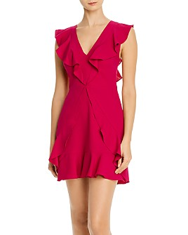 BCBGMAXAZRIA - Ruffled Mini Dress - 100% Exclusive