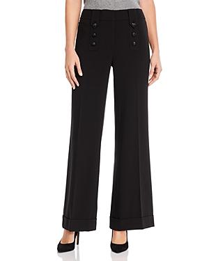 Karl Lagerfeld Paris Wide-Leg Button Detail Pants