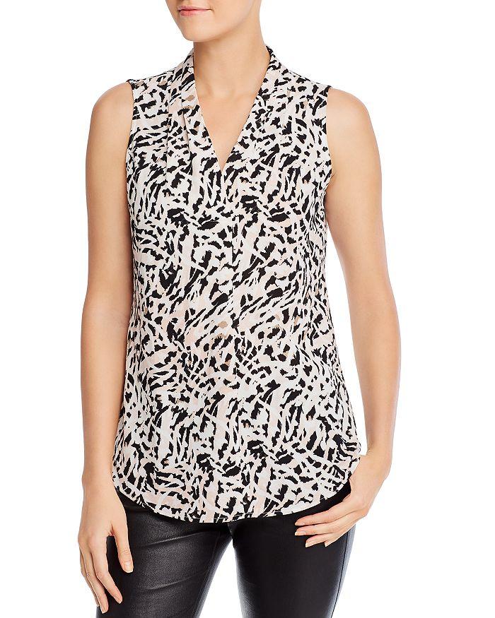 Calvin Klein - Printed Sleeveless V-Neck Top
