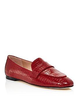 Stuart Weitzman - Women's Payson Croc-Embossed Loafers