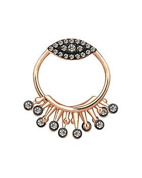 Kismet By Milka - 14K Rose Gold Champagne Diamond 10th Eye Eternal Round Ear Jacket