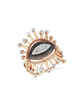 Kismet By Milka - 14K Rose Gold Diamond Evil Eye Eternal Vision Ring