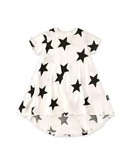 NUNUNU - Girls' Star Print High/Low Dress - Little Kid, Big Kid