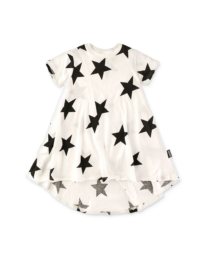 NUNUNU - Girls' Star Print High/Low Dress - Little Kid