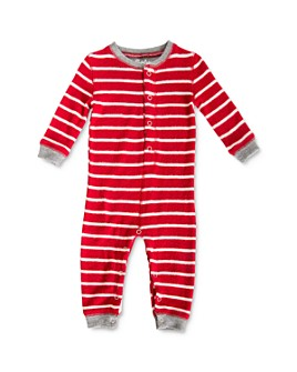 PJ Salvage - Unisex Striped One-Piece Pajamas - Baby