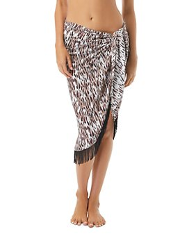 VINCE CAMUTO - Fringed Pareo Swim Cover-Up