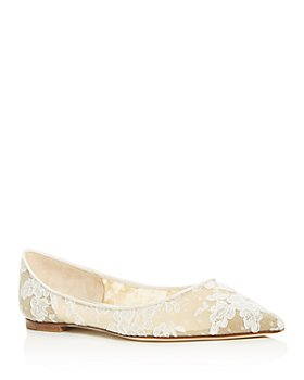 Jimmy Choo - Women's Love Lace Pointed-Toe Flats