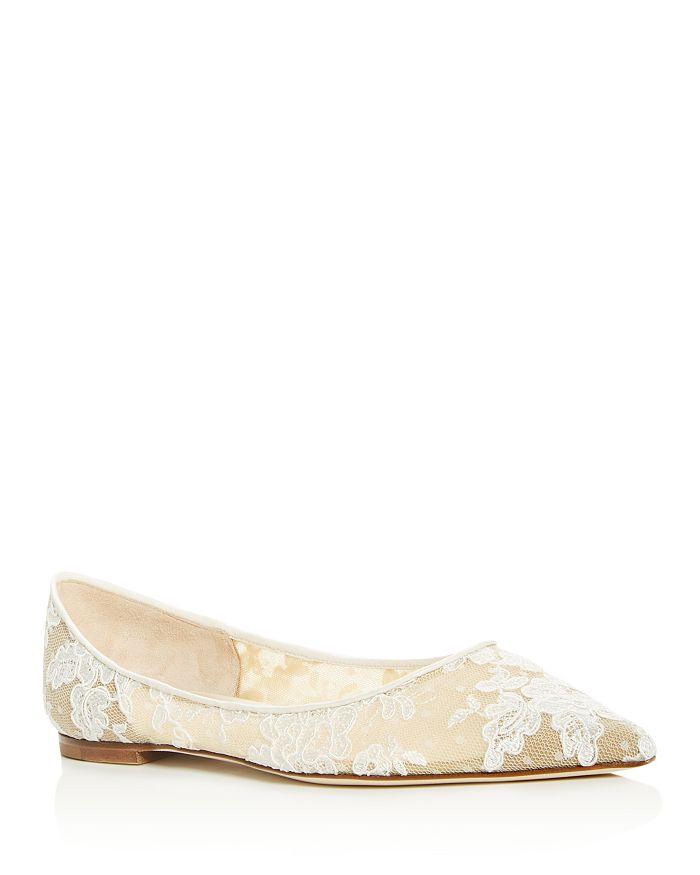 Jimmy Choo - Women's Love Lace Pointed-Toe Flats