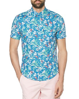 Original Penguin - Floral Dobby Slim Fit Short-Sleeve Shirt