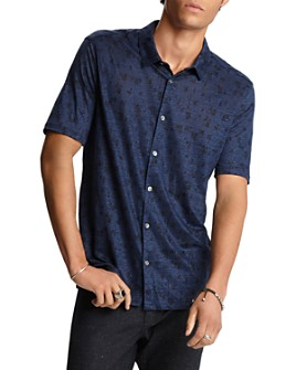 John Varvatos Collection - Linen Slim Fit Short-Sleeve Shirt