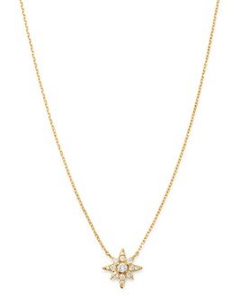 Bloomingdale's - Diamond Starburst Pendant Necklace in 14K Yellow Gold, 0.13 ct. t.w. - 100% Exclusive