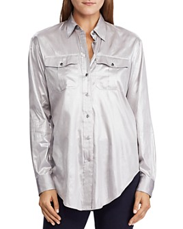 Ralph Lauren - Charmeuse Button-Down Shirt