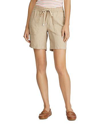 Ralph Lauren - Drawcord-Waist Linen Shorts